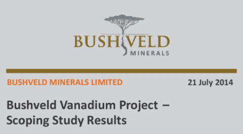 Bushveld Vanadium Project Scoping Study Results – July 2014