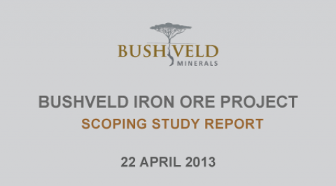 Bushveld Iron Ore Project Scoping Study Report – April 2013