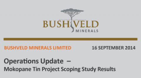 Mokopane Tin Project Scoping Study Results – September 2014