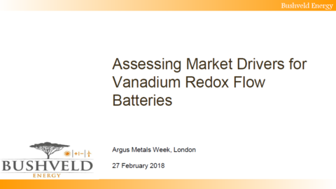Mikhail Nikomarov, CEO of Bushveld Energy, speaks at the 2018 Argus Media Battery Conference in London