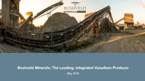 Bushveld Minerals – 121 Mining Investment presentation – London May 2018