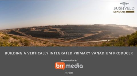 Building a Vertically Integrated Primary Vanadium Producer