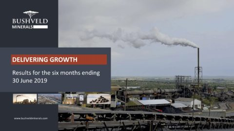 Bushveld Minerals Results for the six months ending 30 June 2019