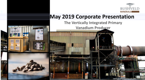 Bushveld Minerals May 2019 Corporate Presentation