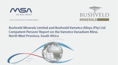 30 January 2020 – Competent Persons' Report on the Vametco Vanadium Mine, North West Province, South Africa