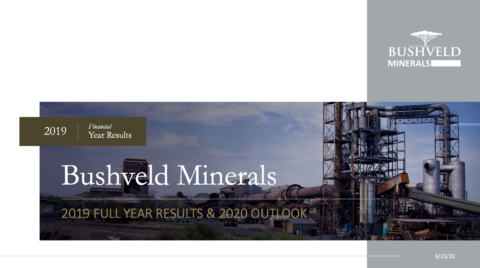 Bushveld Minerals 2019 Full Year Results and 2020 Outlook