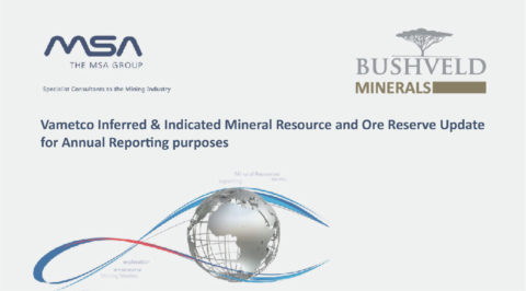 31 December 2020 – Vametco Inferred & Indicated Mineral Resource and Ore Reserve Update for Annual Reporting purposes